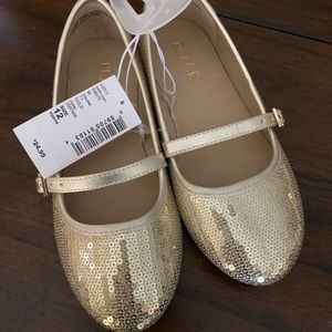 Gold flats size 12